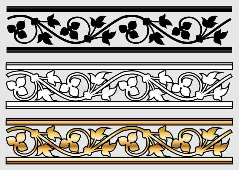 设计滚动样式维多利亚女王时代的著名人物 库存例证