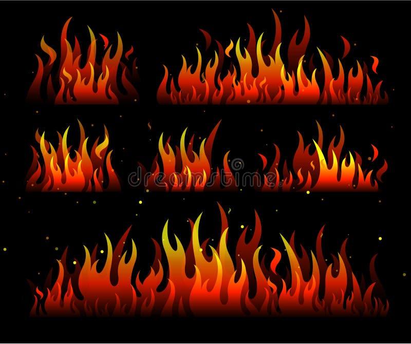 设计火火焰 库存例证
