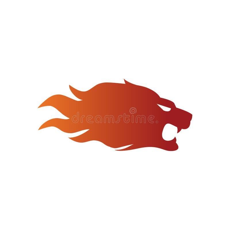 设计火狮子体育运动样式 向量例证