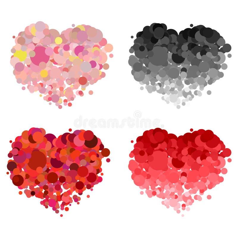 设计爱心脏传染媒介元素 向量例证