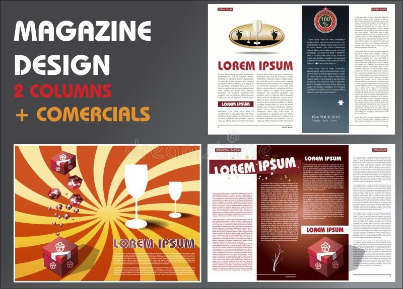 设计版面杂志模板 皇族释放例证