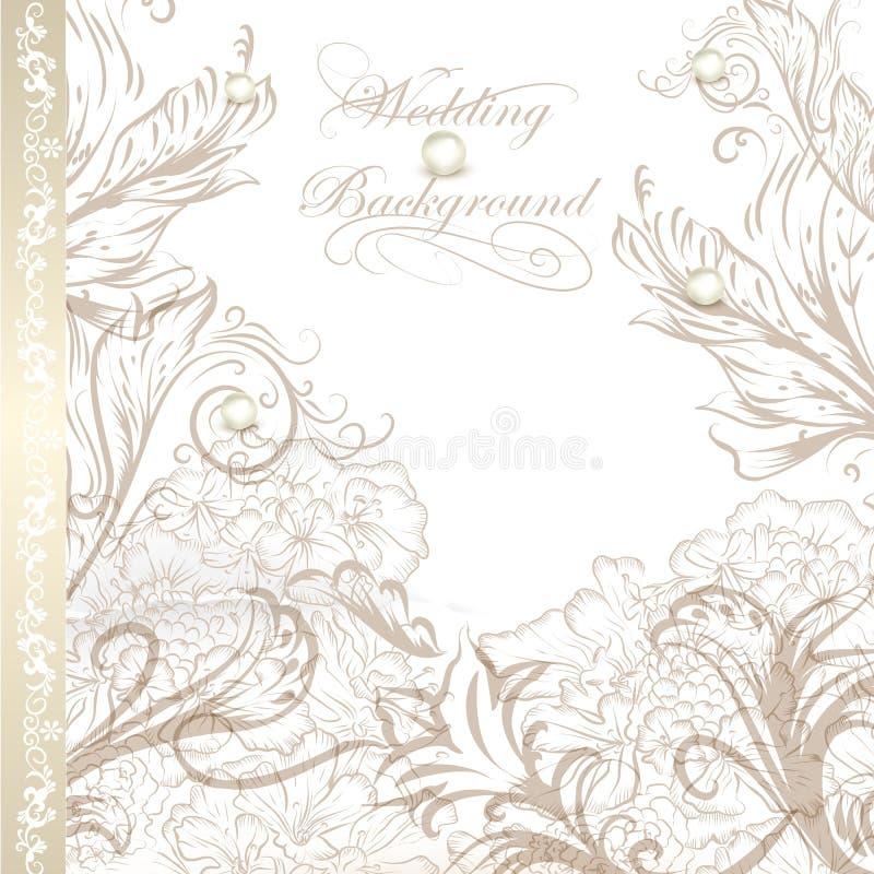 设计的典雅的婚礼背景 向量例证