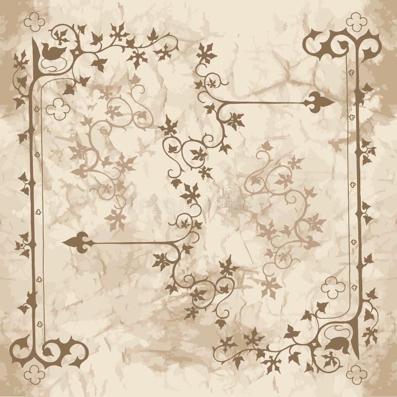 设计的常春藤装饰品 库存例证