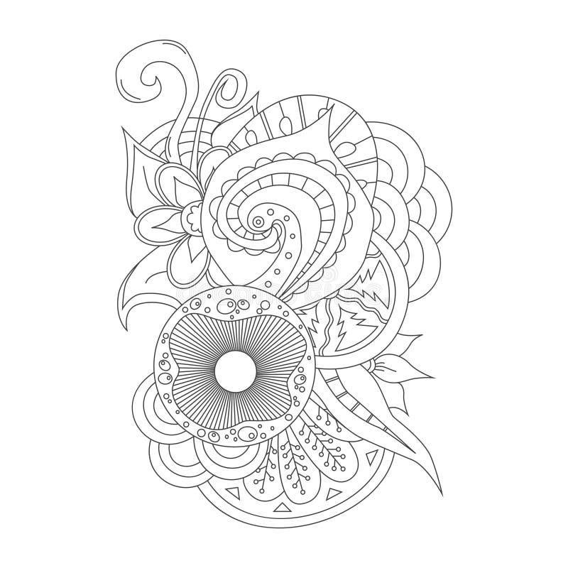 设计的手拉的乱画元素 向量例证