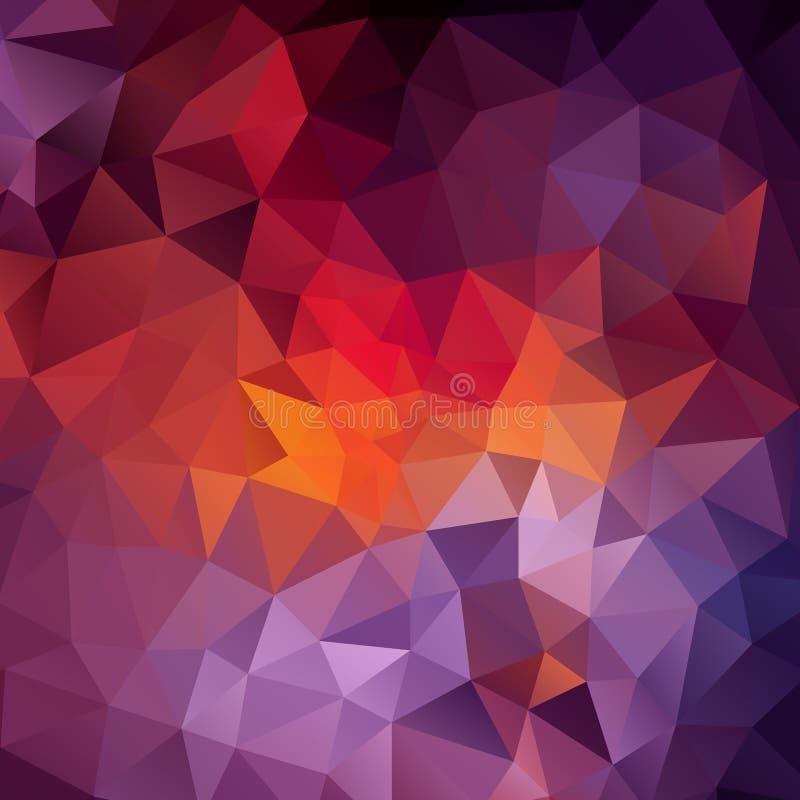 设计的抽象三角背景 向量例证