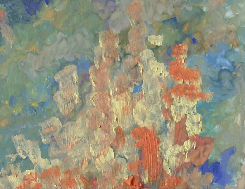 设计的抽象背景,手拉的油漆 向量例证