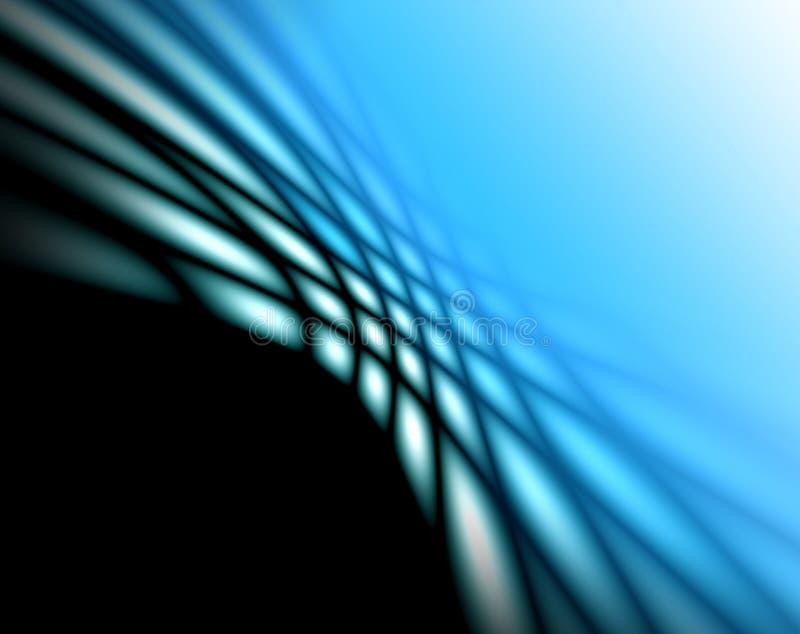 设计的抽象软的蓝色背景 库存例证