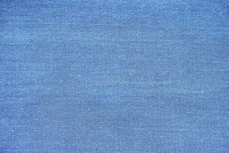 设计的特写镜头棉花蓝色织品布料背景纹理高分辨率背景 免版税库存照片
