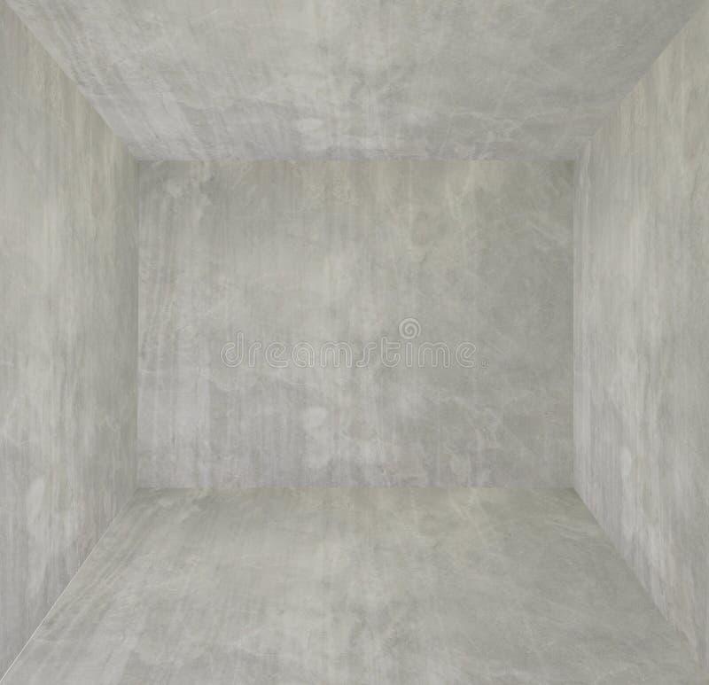 设计的空的内部,混凝土墙 空的空间 文本和图片的空间 设计想法和样式 免版税库存图片