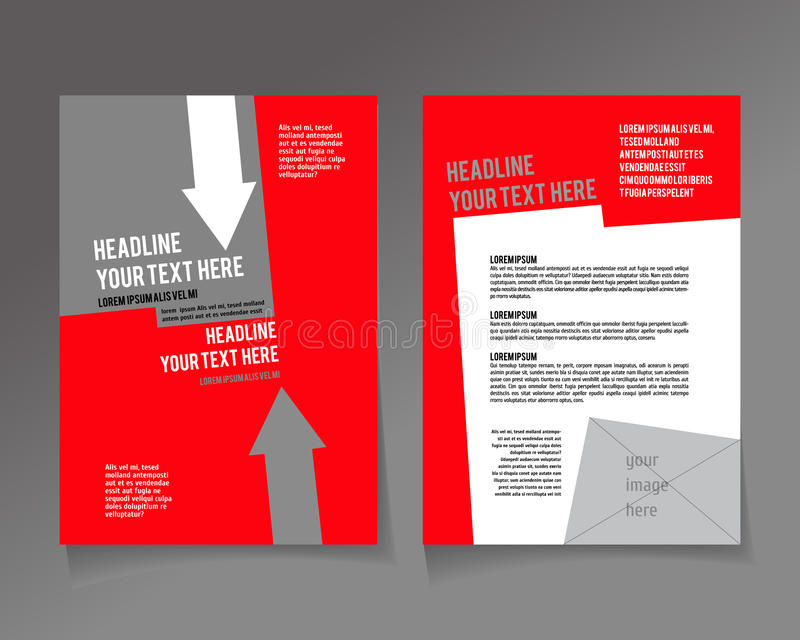 设计的编辑可能的A4海报 皇族释放例证