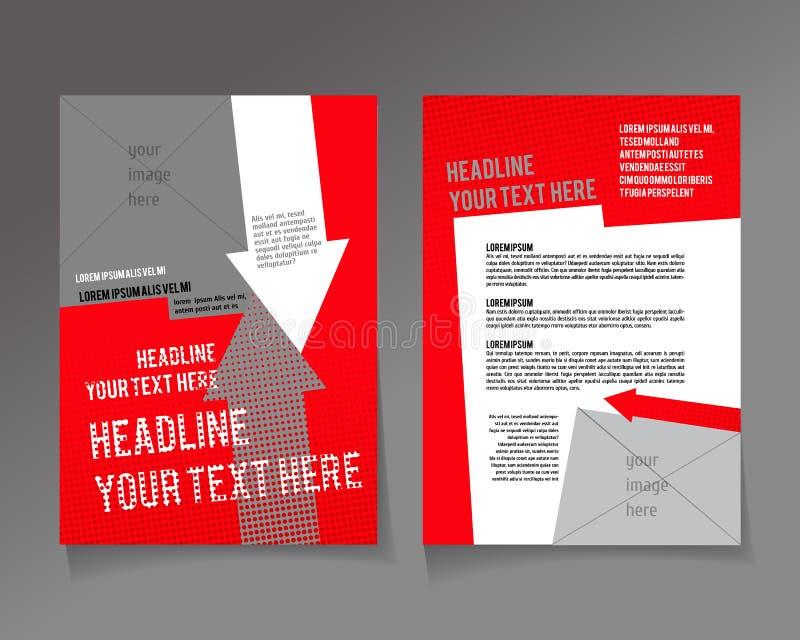 设计的编辑可能的A4海报 库存例证