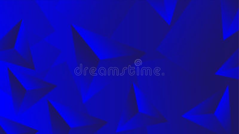设计的蓝色3D抽象墙纸 向量例证