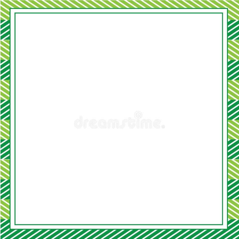 设计的绿色抽象框架模板,邀请,党,生日,婚姻 免版税库存照片
