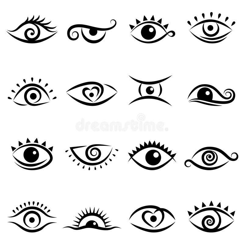 设计眼睛集 皇族释放例证