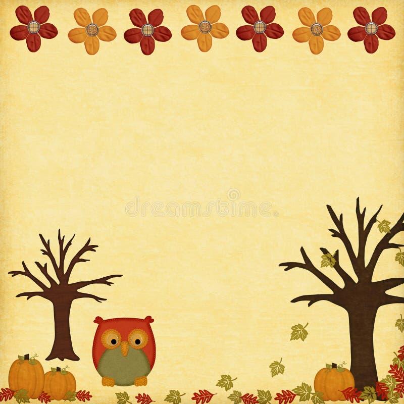 设计秋天猫头鹰结构树图片