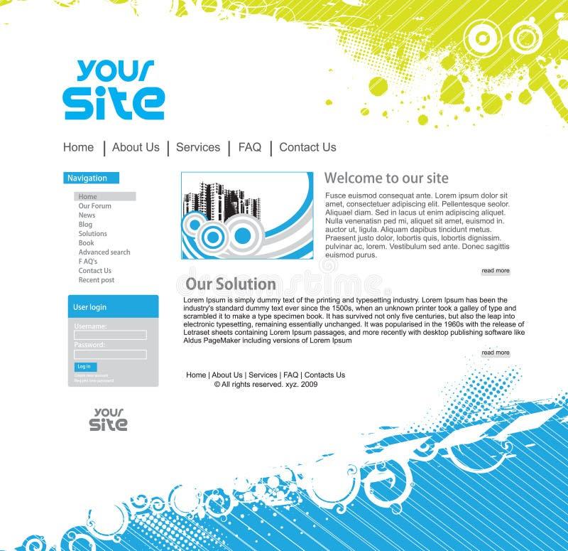 设计站点万维网 库存例证