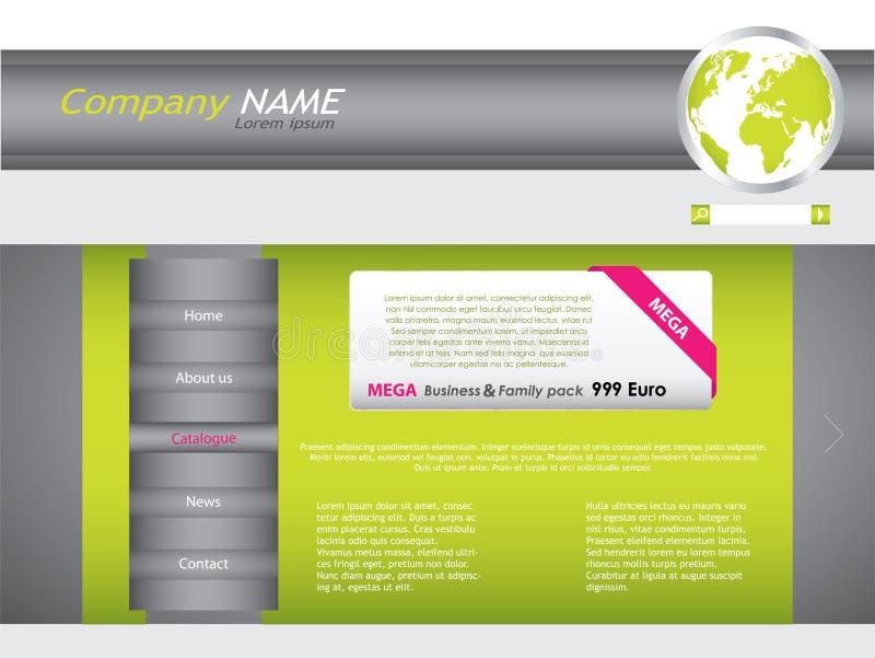设计站点万维网 向量例证
