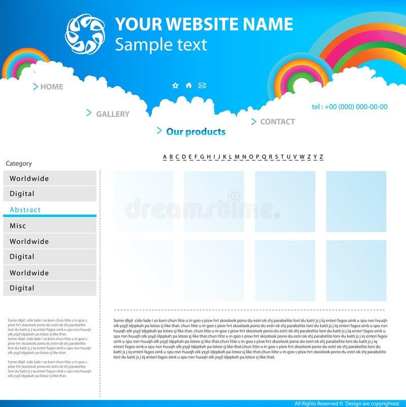 设计站点模板万维网 皇族释放例证