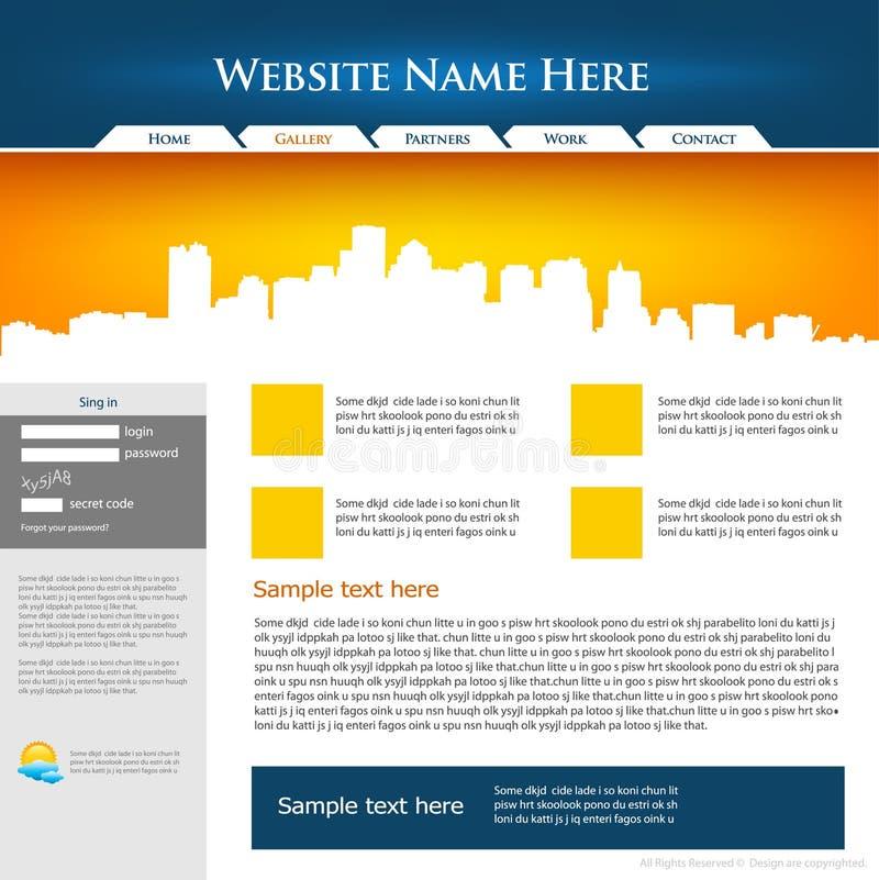 设计站点模板万维网 库存例证