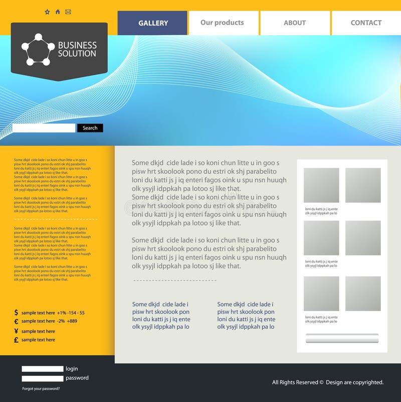 设计站点模板万维网 向量例证
