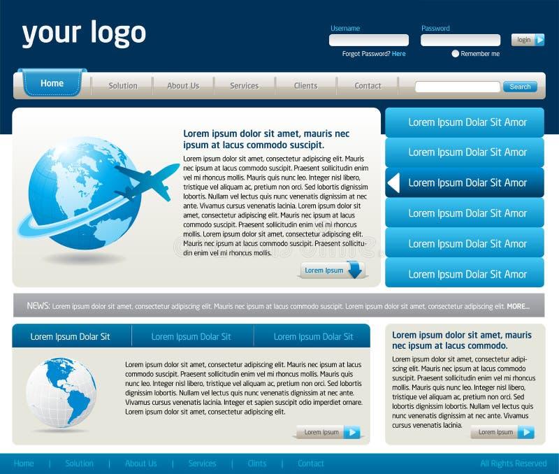 设计站点模板向量万维网 皇族释放例证