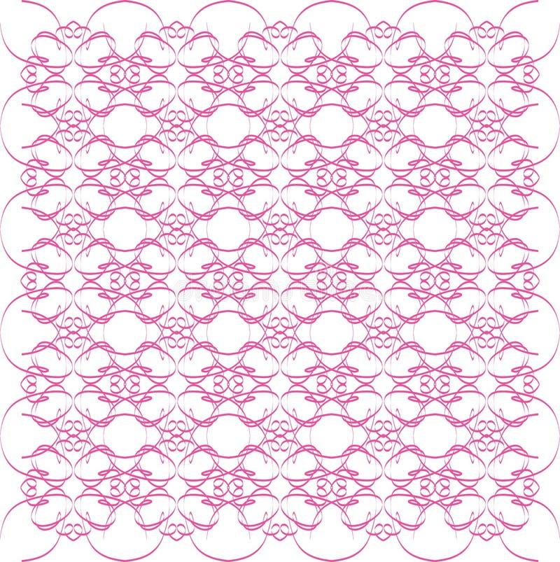 设计粉红色漩涡 皇族释放例证