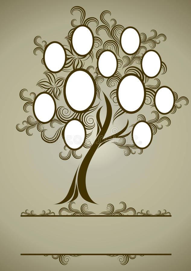 设计系列构成结构树向量 皇族释放例证