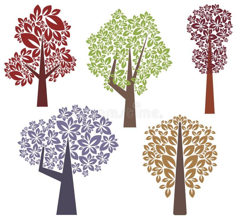 设计系列结构树 向量例证
