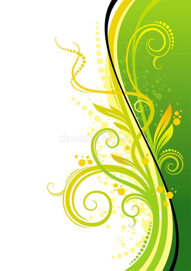 设计绿色黄色 库存例证