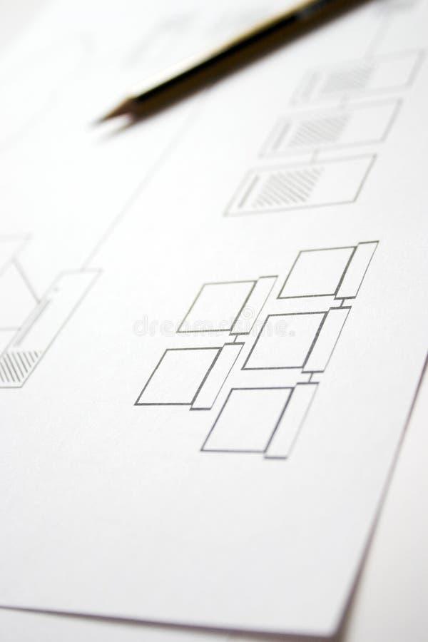 设计网络 免版税库存照片