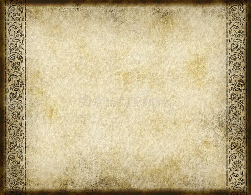设计老纸羊皮纸 库存例证