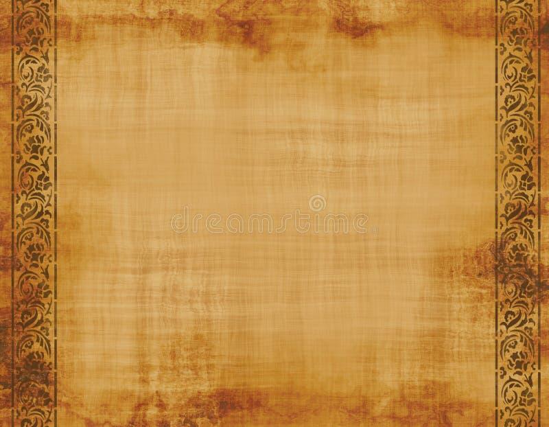 设计老纸羊皮纸 皇族释放例证
