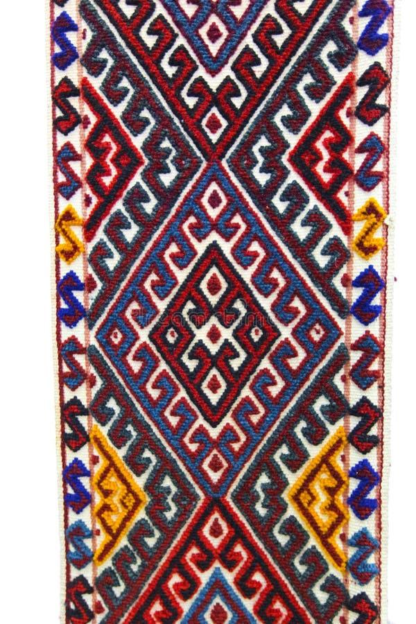 设计艺术样式地毯哈萨克斯坦游牧人 库存图片
