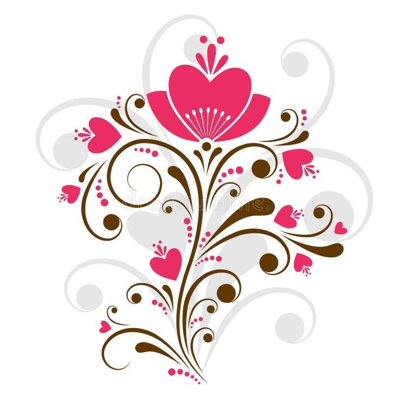 设计花卉向量 库存例证