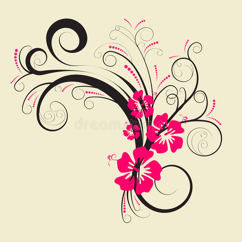 设计花卉向量 向量例证