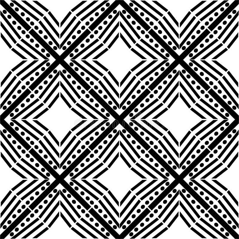 设计花卉样式白色传染媒介黑色几何斑马装饰地毯文化典雅的装饰品图表papertextile星织品 库存例证