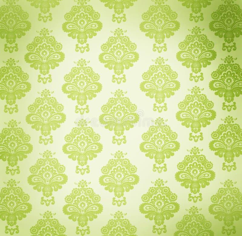 设计花卉葡萄酒墙纸 向量例证