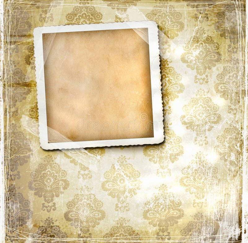 设计花卉葡萄酒墙纸 皇族释放例证