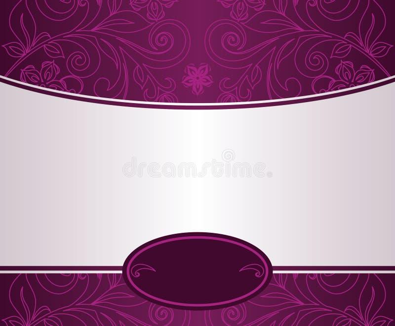 设计花卉葡萄酒 库存例证