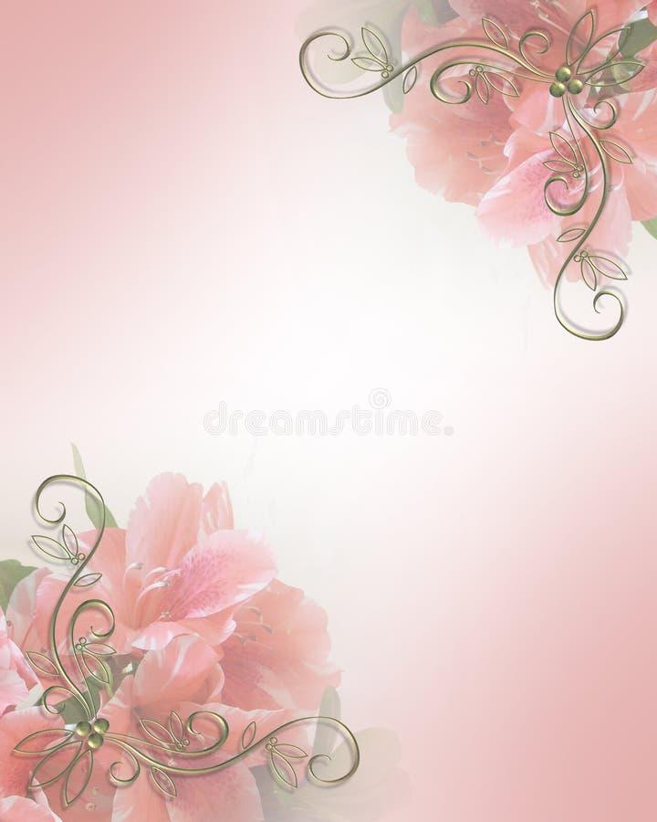 设计花卉邀请粉红色婚礼 皇族释放例证