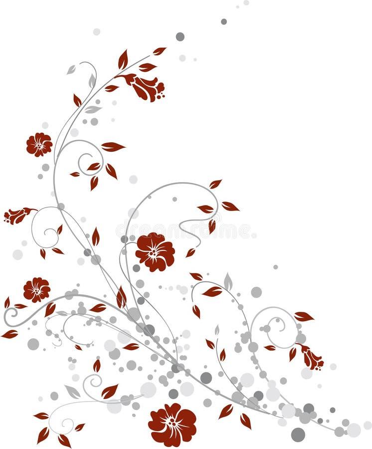 设计花卉 向量例证