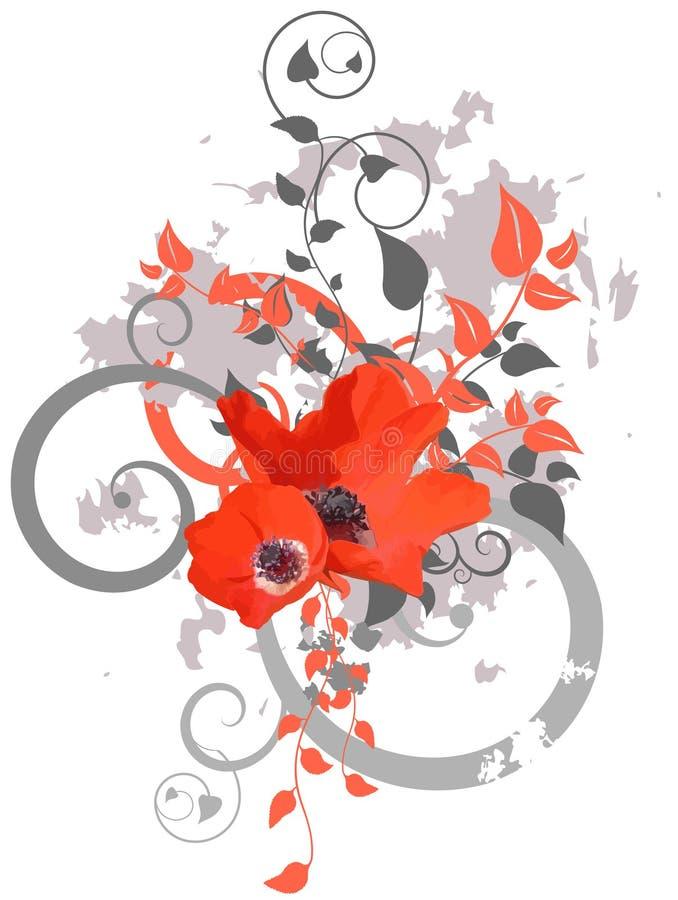 设计花卉 皇族释放例证