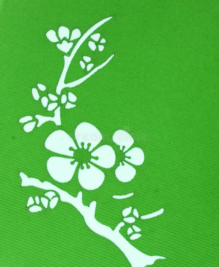 设计花绿色白色 免版税图库摄影