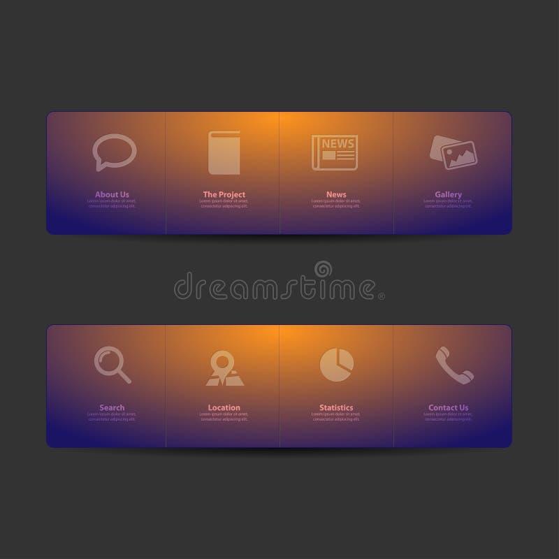 设计菜单模板万维网 库存例证