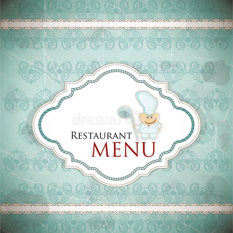 设计菜单餐馆样式葡萄酒 向量例证