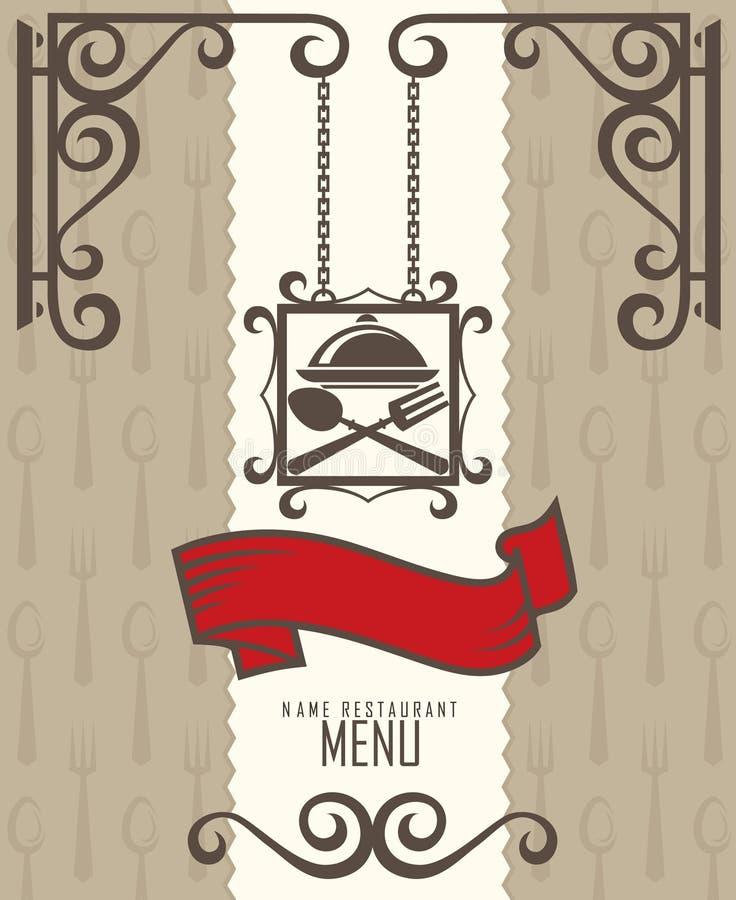 设计菜单餐馆 皇族释放例证