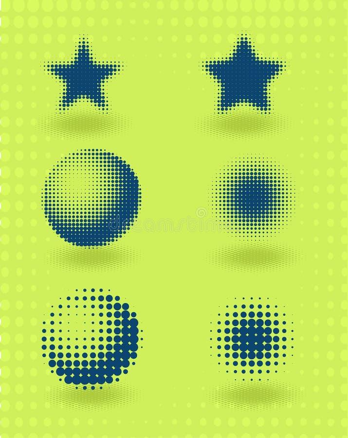 设计要素中间影调集合向量 皇族释放例证