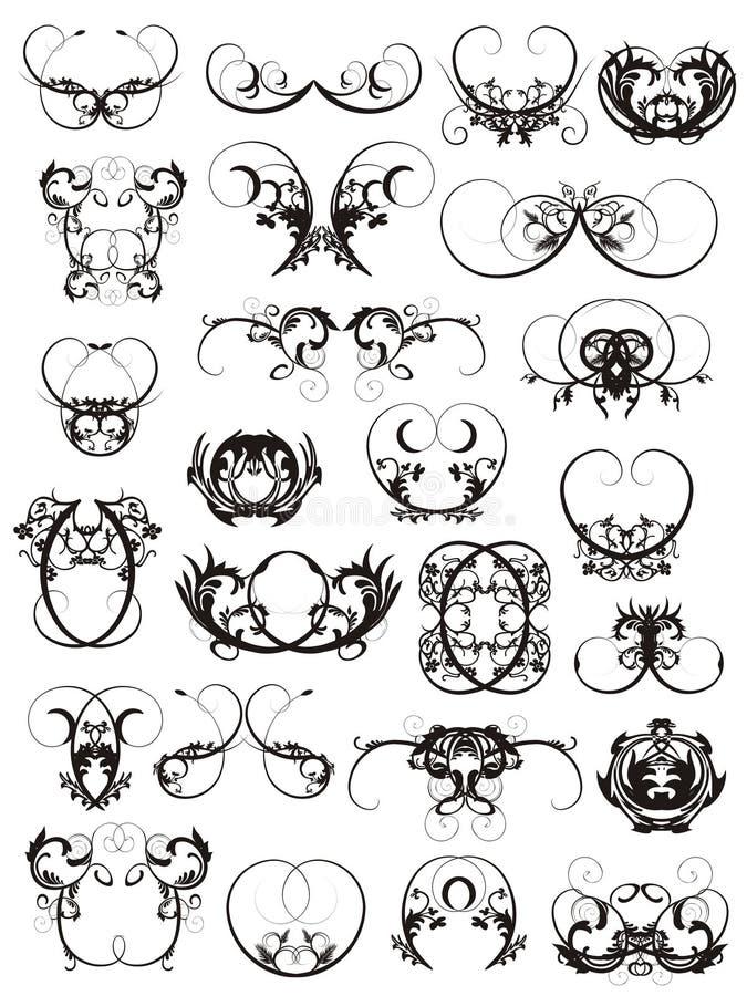 download 设计要素例证纹身花刺 向量例证.