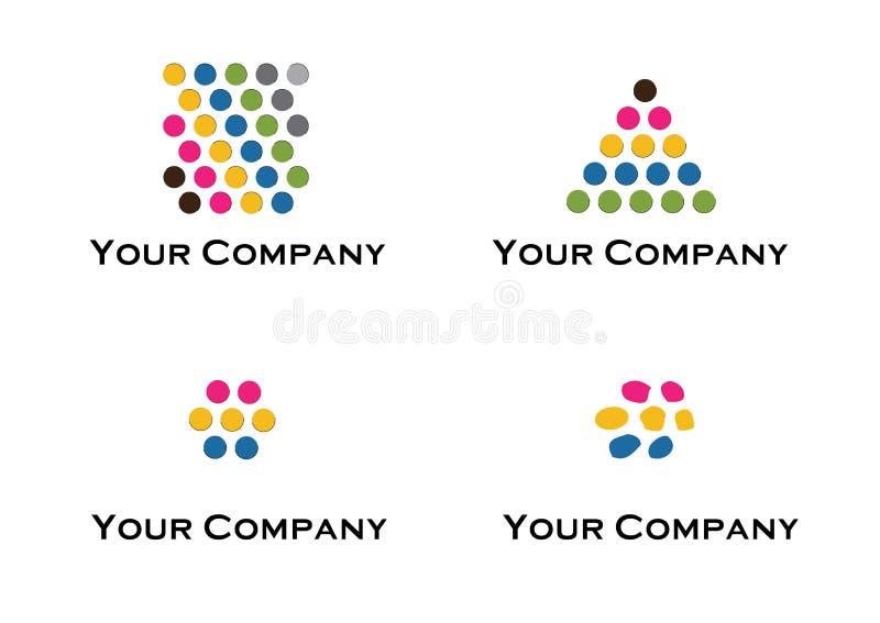 设计要素徽标向量 皇族释放例证