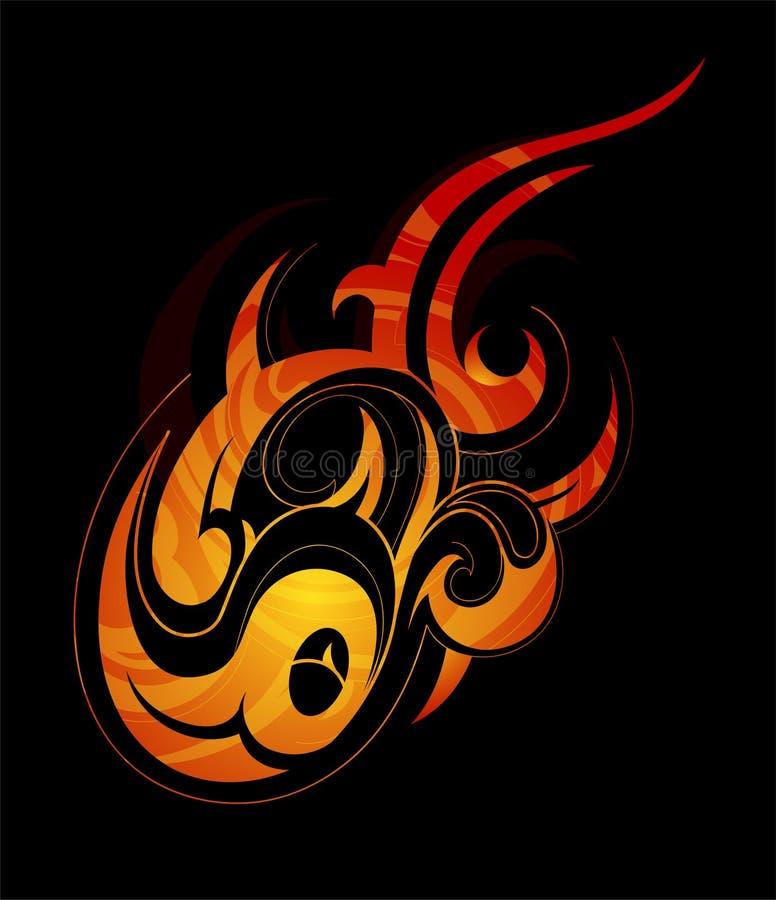 设计要素火火焰 皇族释放例证